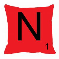 MeSleep Alphabet N Cushion Cover(16 X 16)