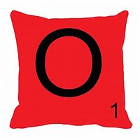 MeSleep Alphabet O Cushion Cover(16 X 16)