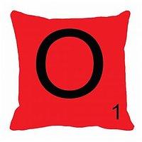 MeSleep Alphabet O Cushion Cover(16 X 16)