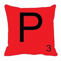 MeSleep Alphabet P Cushion Cover(16 X 16)
