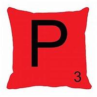 MeSleep Alphabet P Cushion Cover(16 X 16)