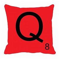 MeSleep Alphabet Q Cushion Cover(16 X 16)