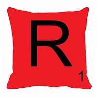 MeSleep Alphabet R Cushion Cover(16 X 16)