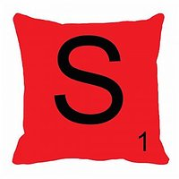 MeSleep Alphabet S Cushion Cover(16 X 16)