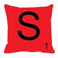 MeSleep Alphabet S Cushion Cover(16 X 16)