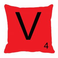 MeSleep Alphabet V Cushion Cover(16 X 16)