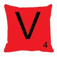 MeSleep Alphabet V Cushion Cover(16 X 16)