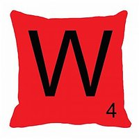 MeSleep Alphabet W Cushion Cover(16 X 16)