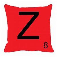 MeSleep Alphabet Z Cushion Cover(16 X 16)