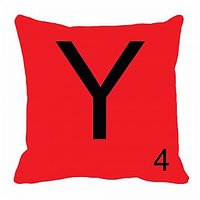 MeSleep Alphabet Y Cushion Cover(16 X 16)