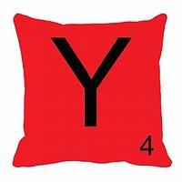 MeSleep Alphabet Y Cushion Cover(16 X 16)