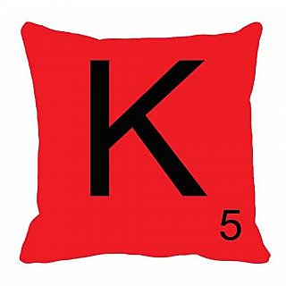 meSleep Alphabet K Cushion Cover(16 x 16)