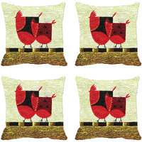 Two Chick Digitally Printed Cushion Cover (12x12)
