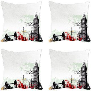 Grey City  Digitally Printed Cushion Cover (12x12)