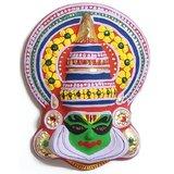 Kerala Traditional Handicraft Item Kathakali Mask Made In Paper Mech