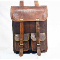 CA Real Leather Genuine Messenger Handmade Briefcase Brown Bag Backpack Rucksack