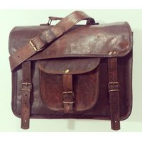 CraftAndArts Real Leather Messenger/university Bag.