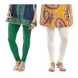 Women's Premium Legging Combo - White & Green