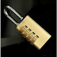 4 Digit Bag Travel Coded Lock Resettable Password Lock Combination Padlock