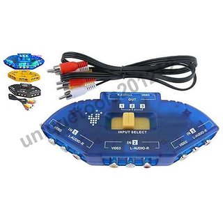 Audio Video 3-In-1 Input Output Switch Selector Hub
