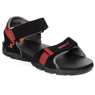 Sparx Men Black Sports Sandals & Floatrs