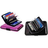 Set Of 2 Pc Credit Debit ATM Card Money Holder Unisex Wallet Water Resistance - 5694074