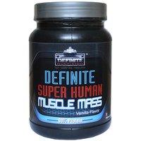 Definite Super Human Muscle Mass 90% Protein 1 Kg(2.2 Lbs) Vanilla Flavor