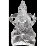 Vedka Indian Idol Home DECOR ART CRYSTAL BEST GIFT SPECIAL Clear Quartz Hindu God Ganesh Sattue