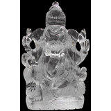 Vedka Indian Idol Statue LORD GANESHA STATUE Clear Quaartz HIGH QUALITY Hindu Elephant God Lord Ganesh