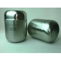 Tea & Sugar Stainless Steel Canister Set Pack Of 2 Diwali Special Gift