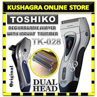 Toshiko Rechargeable Cordless Shaver With Pop Up Trimmer And Extra Blade