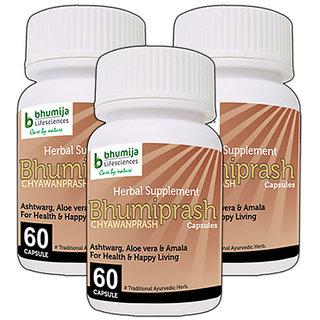 CHYAWANPRASH CAPSULES BHUMIPRASH 60's (COMBO PACK OF THREE)