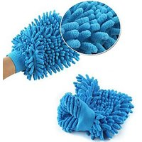 Double Sided Micro Fiber Premium Wash Mitt Gloves  Set Of 3
