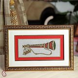 Gold Painted Flute Wall Hanging