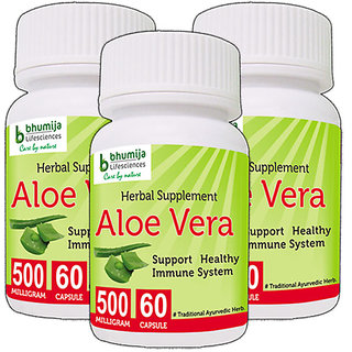 ALOEVERA CAPSULES 60's (COMBO PACK OF THREE)