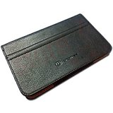 Black Leather Flip Book Style Carry Case Cover Pouch for Micromax Funbook P300