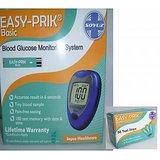 EASY-PRIK Blood Sugar Glucose Meter Monitor + 50 Test STRIPS Free
