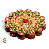 Floral Design Kumkum Chopra Made In Wood And Clay
