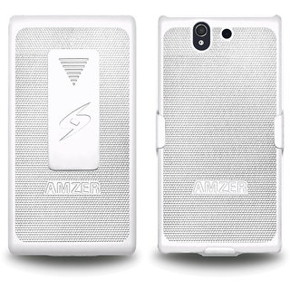 Amzer® 95636 Shellster™ - White for Sony Xperia Z L36i
