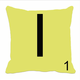 Mesleep Alphabet I Cushion Cover(16 X 16)