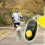 2 Pc Dog Pet Click Clicker Training Trainer Aid Wrist Strap