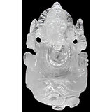 Vedka Indian Statue Hindu God Elephant God Ganesh Statue Clear Quartz Gemstone Rare Design Art India
