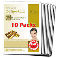 Gold Collagen Essence Face Mask For Instant Glow ( Pack Of 10)