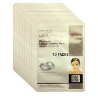 Platinum Collagen Essence Face Mask For Instant Glow ( Pack Of 10)