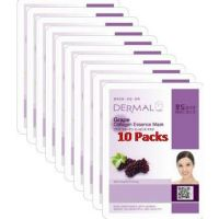 Grape Collagen Essence Face Mask For Instant Glow ( Pack Of 10)