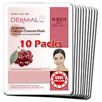 Acerola Collagen Essence Face Mask For Instant Glow ( Pack Of 10)