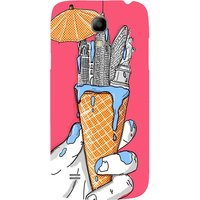 Snoogg New York In An Ice Cream Case Cover For Samsung Galaxy S4 Mini