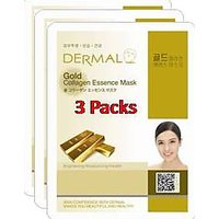 Gold Collagen Essence Face Mask For Instant Glow ( Pack Of 3]