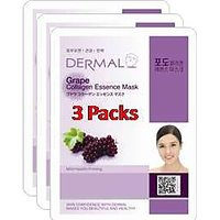 Grape Collagen Essence Face Mask For Instant Glow ( Pack Of 3]