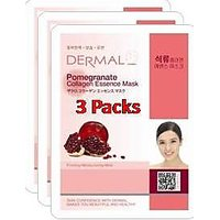 Pomegranate Collagen Essence Face Mask For Instant Glow ( Pack Of 3]
